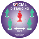 SOCIAL DISTANCING FLOOR GRAPHICS (SINGLE)