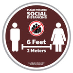 SOCIAL DISTANCING FLOOR GRAPHICS (6-PACK)