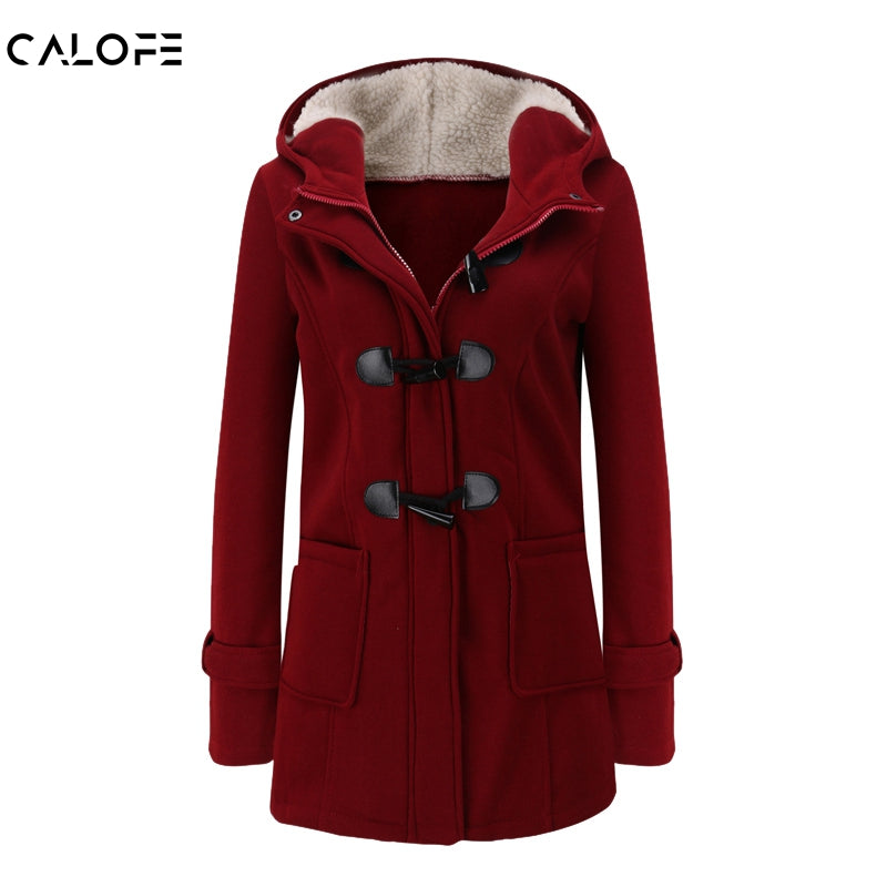CALOFE Women Basic Jacket 2019 Causal Coat Spring Autumn Women's Overcoat Zipper  Button Outwear Jacket Female Hooded Coat