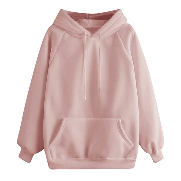 Women Hoodies Fall 2019 Casual Solid Color Hoodie Pocket Long Sleeve Pullover Sweatshirt Pastel Clothes Bluzy Damskie Z Kapturem