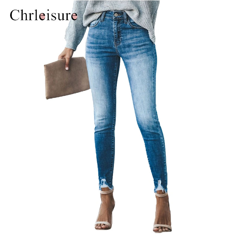 Chrleisure Ripped Jeans For Women High Waist Plus Size Skinny Jeans Woman Streetwear Push Up Vintage Tommy Jeans