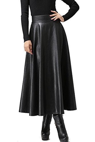 Customize Women's Autumn Winter Spring Long Faux Leather Skirts Woman's High Waist Midi Maxi Plus Size Skirt