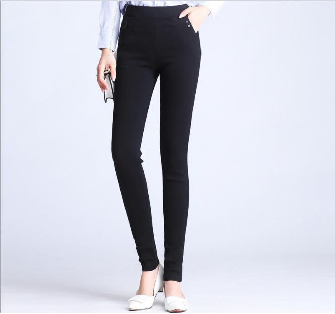 WYWAN 2019 Women  Jeans Trousers Jeans Women  Jeans Black Color Black Donna Stretch Bottoms Women's Pants Skinny Pants For Women
