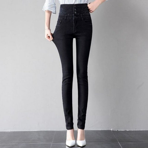 Ladies Jeans High waist