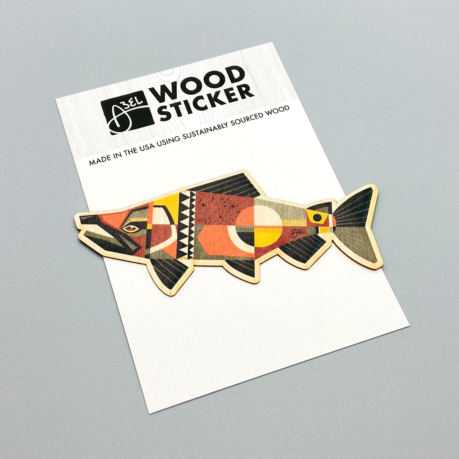 Wood Sticker: Chinook