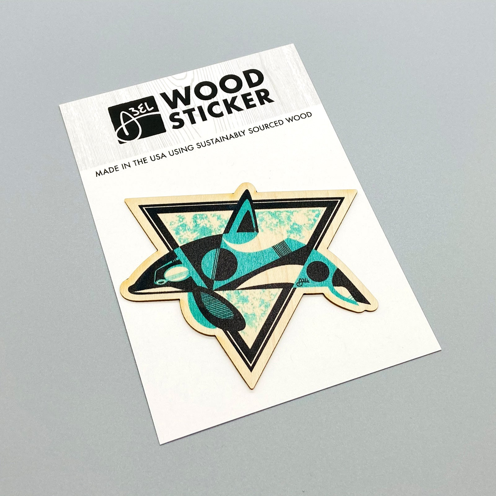 Wood Sticker: Orca