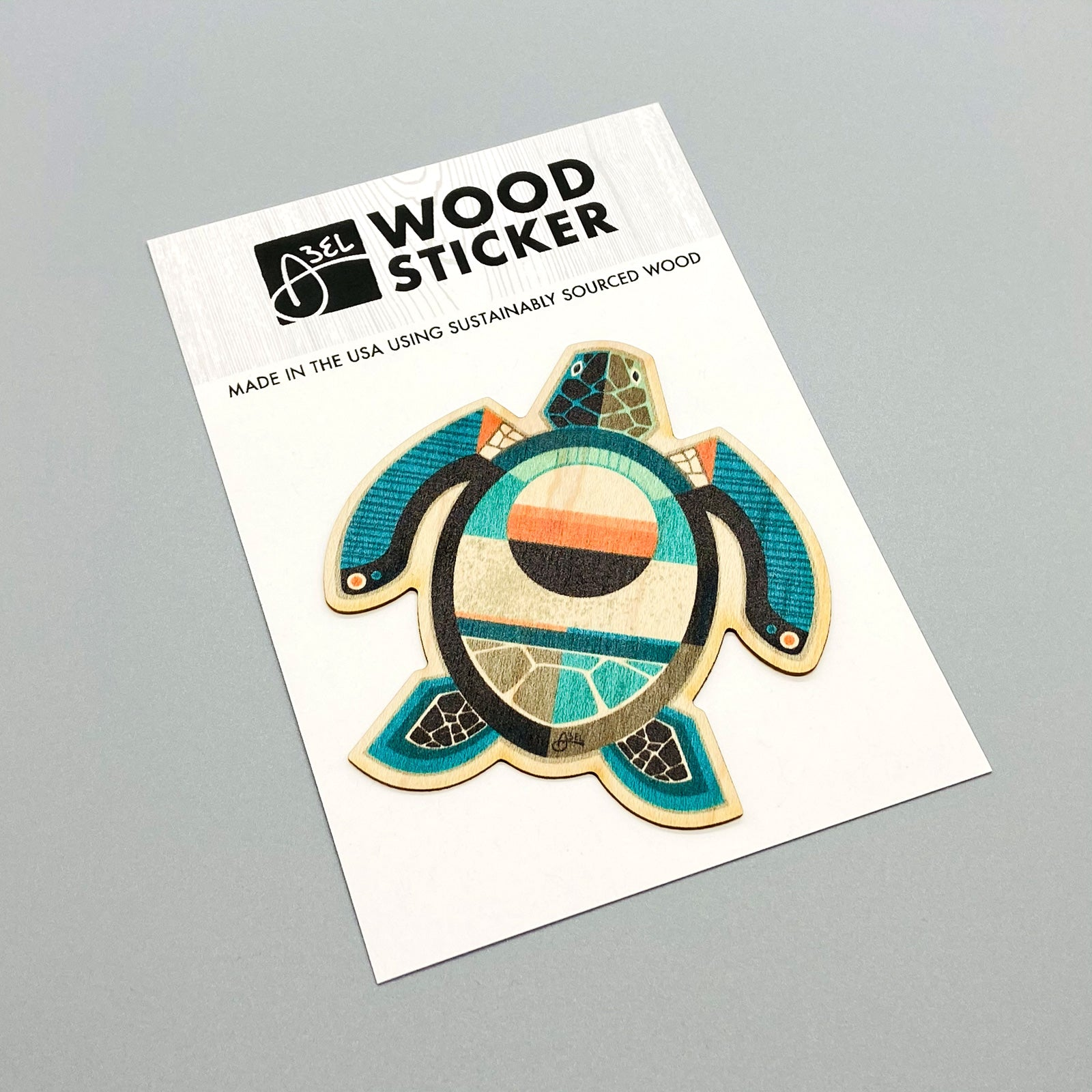 Wood Sticker: Turtle
