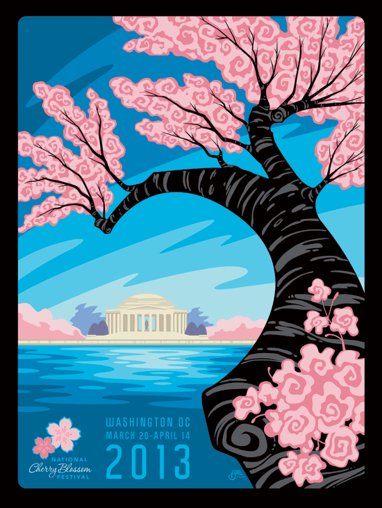 National Cherry Blossom Festival 2013 Artwork by Erik Abel