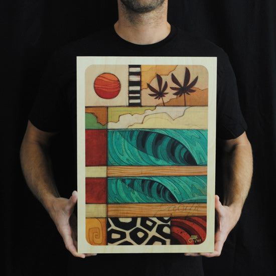 Print on Wood: Pacifico 3 by Erik Abel