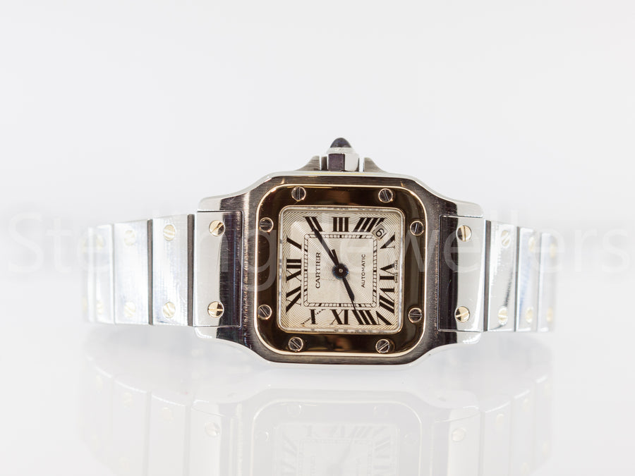 18ct gold & steel Ladies Cartier Santos