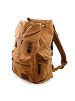 Men's Outdoor Sport Vintage Canvas Military BackBag Shoulder Travel Hiking Camping School Bag Backpack