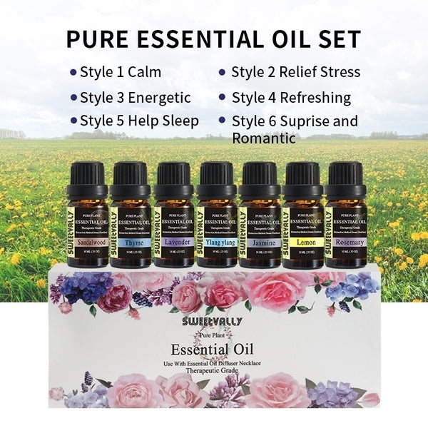 Essential Oil Set Water Solution Natural Plant Aromatherapy
