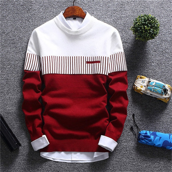 New Men's Autumn Winter Pullover Wool Slim Fit