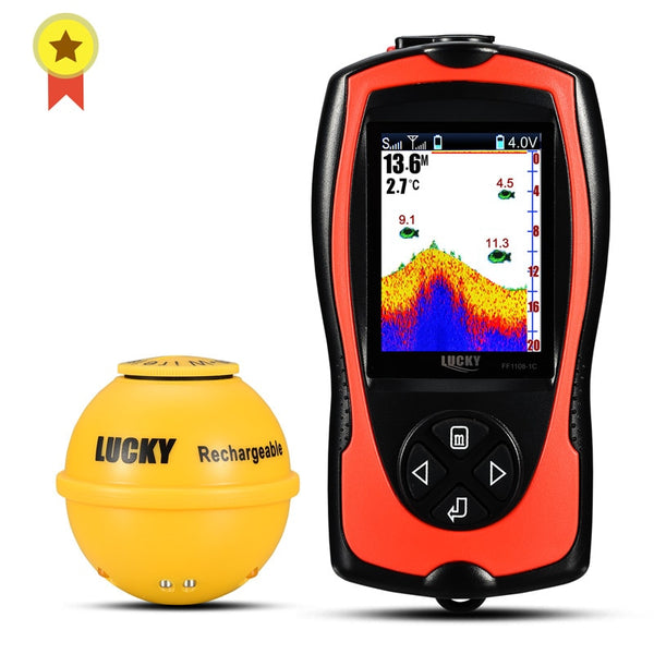 LUCKY FF1108-1CWLA Rechargeable Wireless Remote Sonar for fishing