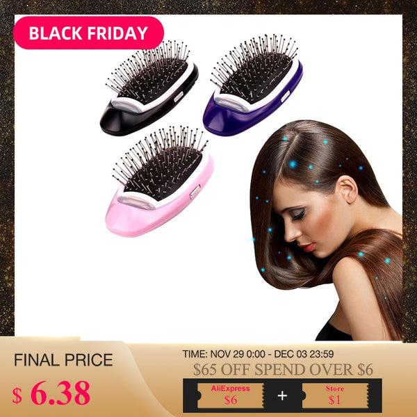 Portable Electric Negative Ions Hair Comb