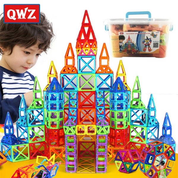 QWZ 252pcs  Magnetic Blocks Educational Toys For Children Kid Gift