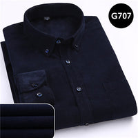 Warm Quality 100%cotton Corduroy long sleeved button collar