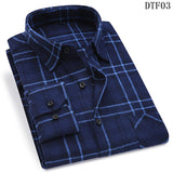Men Flannel Plaid Shirt 100% Cotton 2019 Spring Autumn Casual Long Sleeve