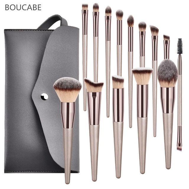 4-14pcs Luxury Makeup Brushes Set