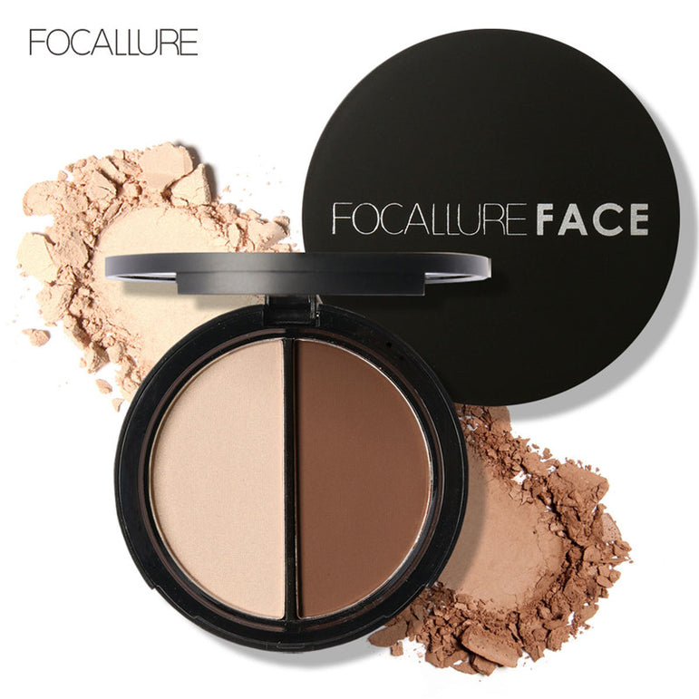 FOCALLURE Shimmer Bronzer and Highlighters Powder Makeup Concealer for Face Stick Palette Contour