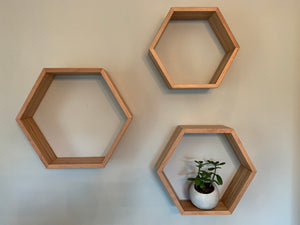 Hexagon Wall Shelf - The Giving Table