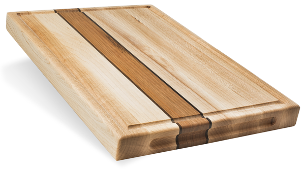 Maple Cutting Board w/Cherry Stripe - The Giving Table