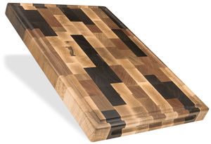 Large Mixed Wood Butcher Block - The Giving Table