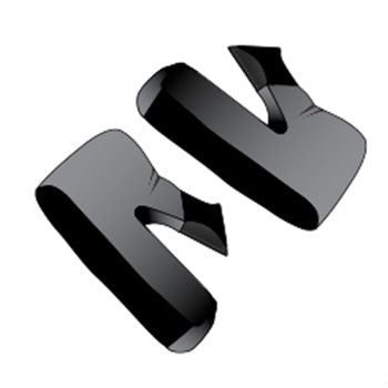 SHARK RACE R/RACE R PRO CHEEK PADS (SILVER)