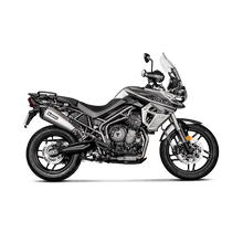 Load image into Gallery viewer, Akrapovic TRIUMPH TIGER 800 XC/XR/XRX/XCX/XRT/XCA 18-20 Slip-On Line (Titanium)