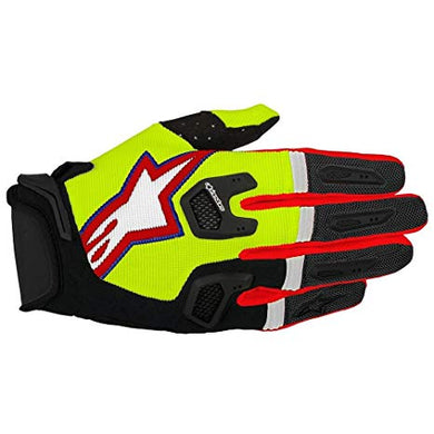 Racefend Gloves 17 YEL/BLK/RED