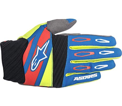 Techstar Factory Gloves 16 BLU/YEL F/RED