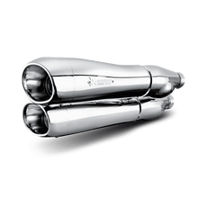 Load image into Gallery viewer, Akrapovic HARLEY-DAVIDSON DYNA FXDF FAT BOB 08-15 Slip-On Line (Chrome)