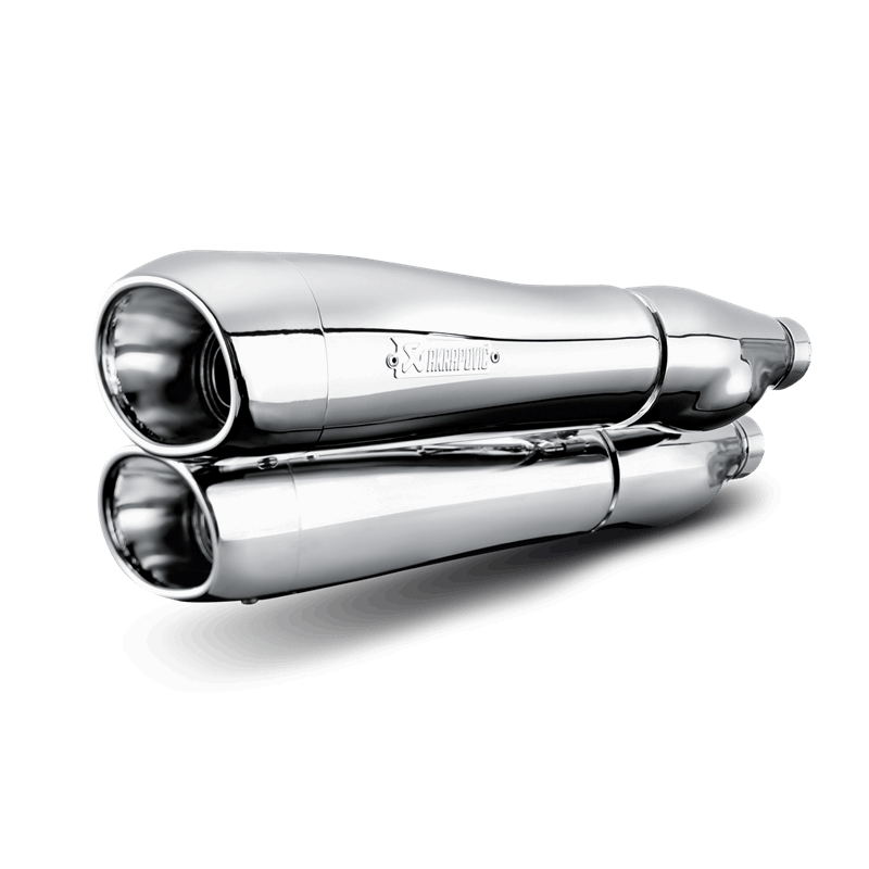 Akrapovic HARLEY-DAVIDSON DYNA FXDF FAT BOB 08-15 Slip-On Line (Chrome)