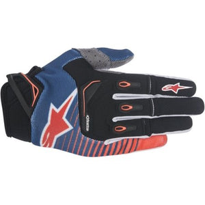 Techstar Gloves 17 DBLUE/ORG/WHT