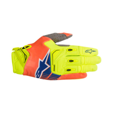 Techstar Gloves 18 YEL F/ ORG F /BLU