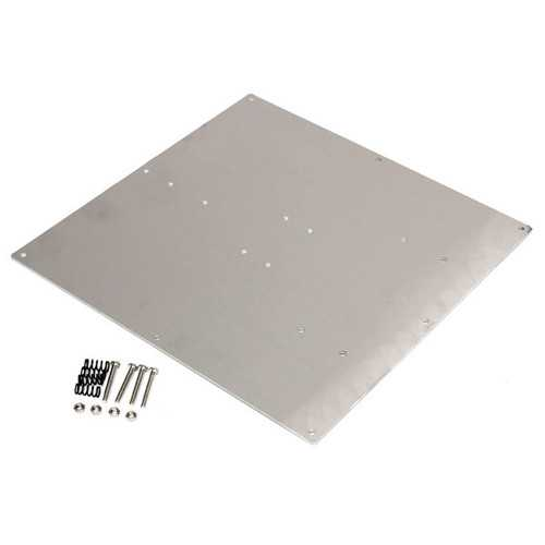 Anodized Aluminum Heated Bed Buld Plate For 3D Printer RepRap Prusa