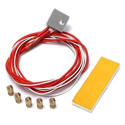 3D Printer Heating Aluminum Block Thermistor With 0.4mm Nozzle Kit For MK8 Extruder