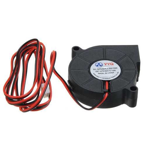 5Pcs DC24V Cooling Fan Ultra Quiet Turbine Small DC Blower 5015 For 3D Printer Circuit Board