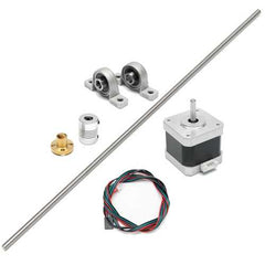 T8 600mm Stainless Steel Lead Screw Coupling Shaft Mounting + Motor For 3D Printer