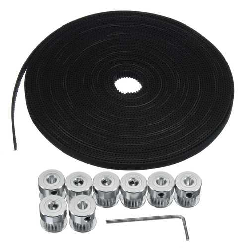 10M GT2 Timing Belt 6mm Wide + 10x Pulley + L Shape Wrench For 3D printer CNC RepRap