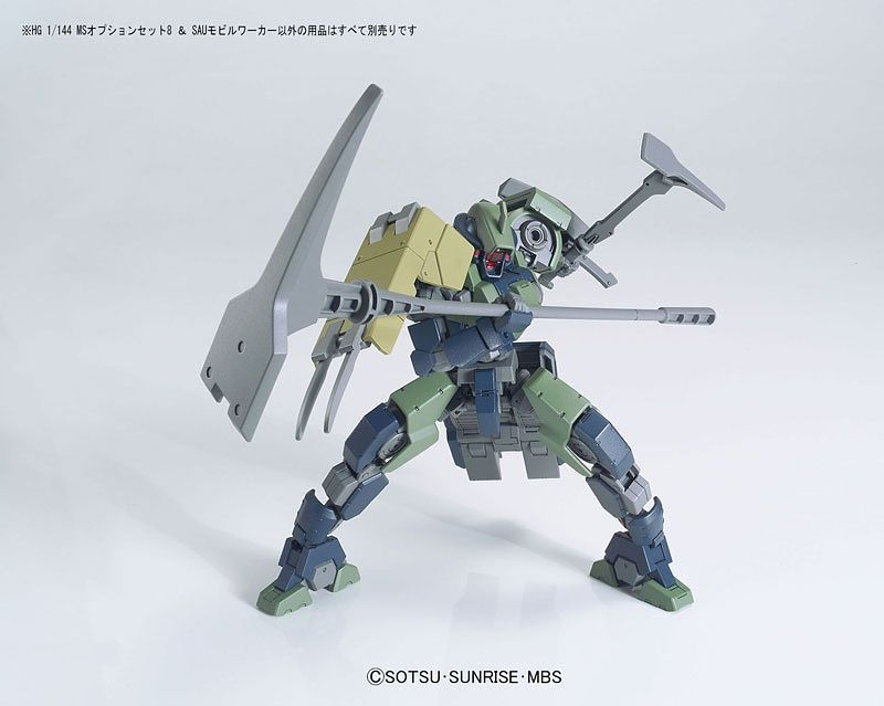 HG Gundam Mobile Suit Option Set 8 & SAU Mobile Worker 1/144 - gundam-store.dk