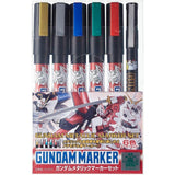 Gundam Marker Metallic Set 6 stk.