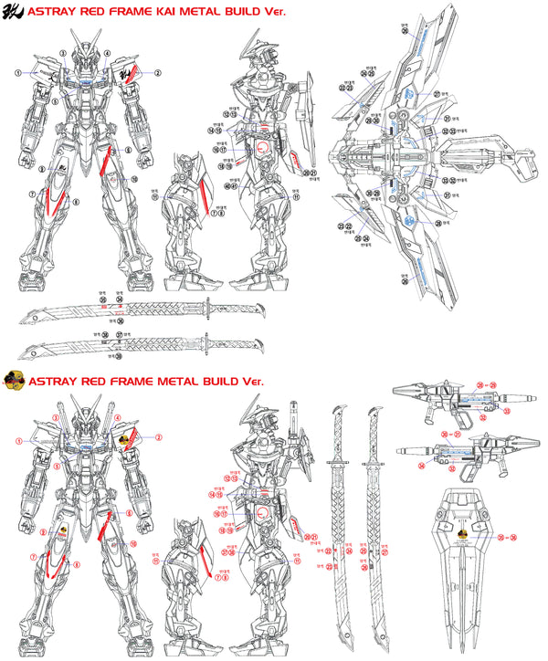 MG RED FRAME (mb style) WATER DECAL - gundam-store.dk