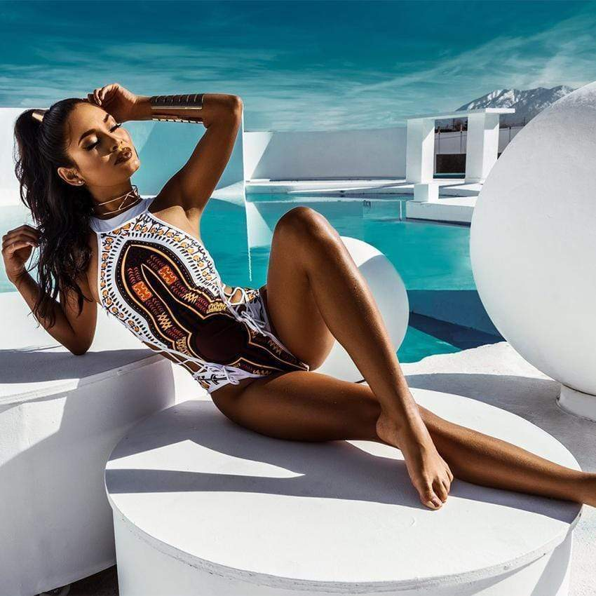 African Printed One Piece Swimsuit / Bikini 2018 Edition - Very Goodeals