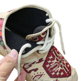 Comfortable Lace Up Embroidered Shoes - Very Goodeals
