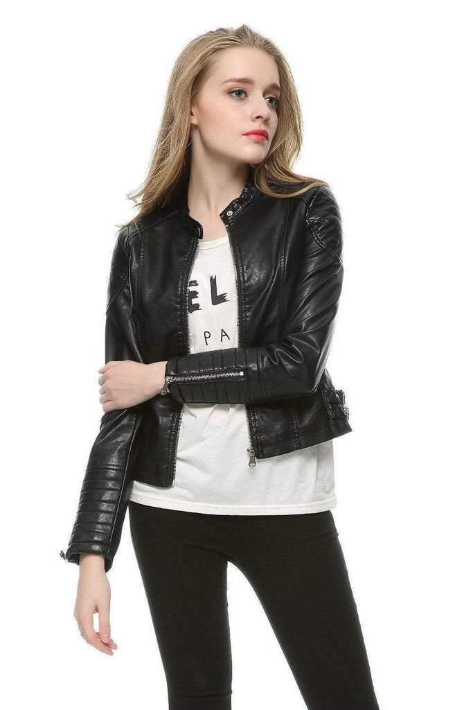 Faux Leather Motorcycle Jacket ( 5 Colors Inside ) - Very Goodeals