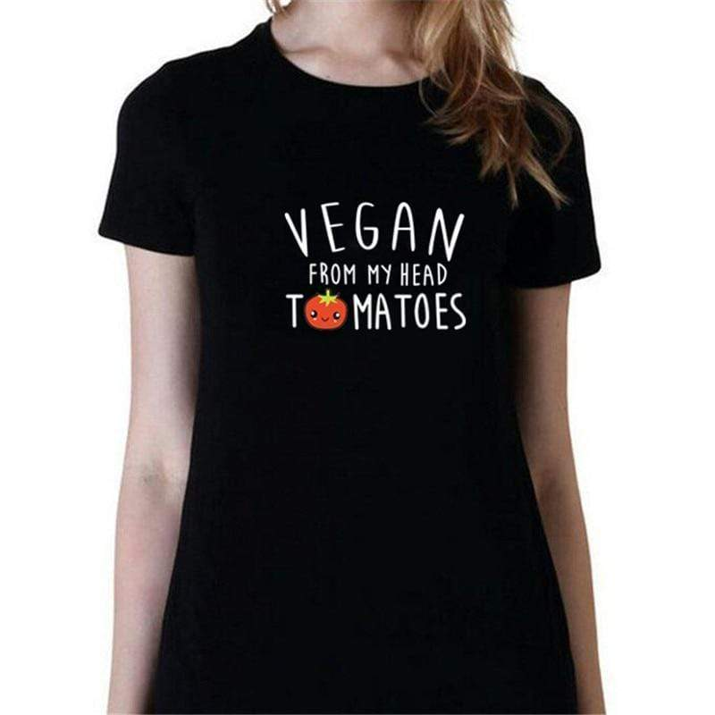 Vegan From My Head Tomatoes T Shirt - Very Goodeals