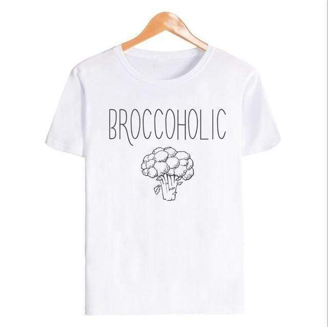 Broccoholic Vegan  Tee - Very Goodeals
