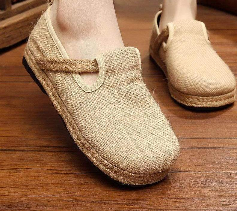 Plain Organic Hemp Breathable Slip ons - Very Goodeals