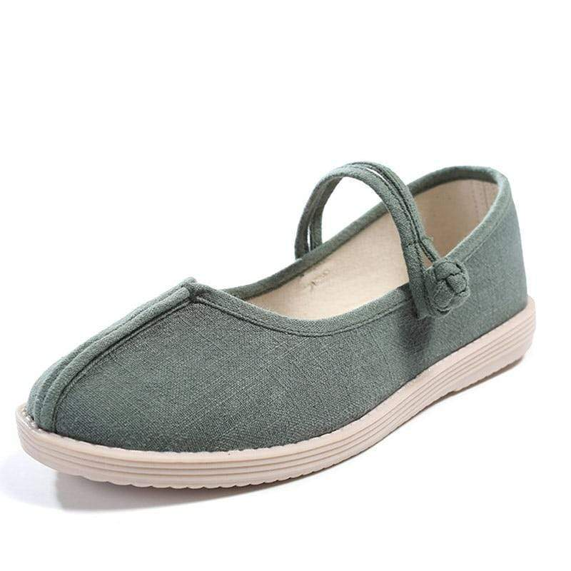 Handmade Linen Cotton Flats - Very Goodeals